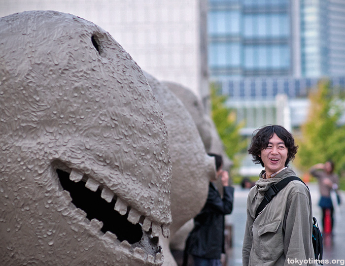 Japanese toothy grin