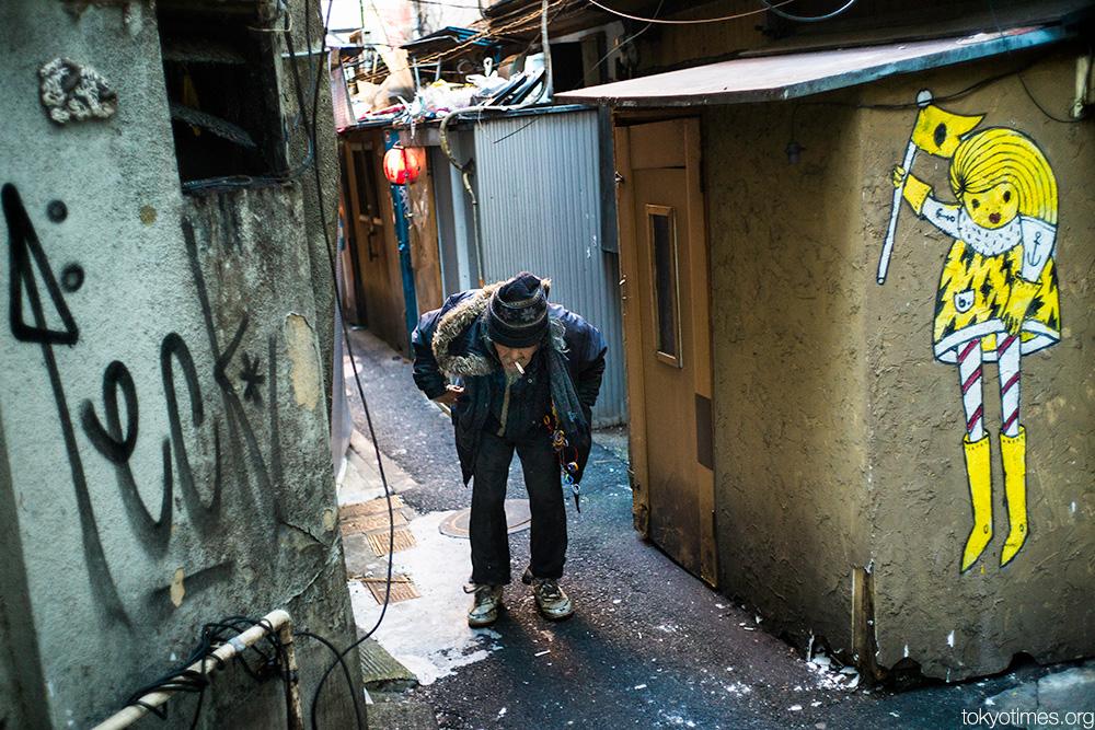 Tough alley life for Tokyo homeless