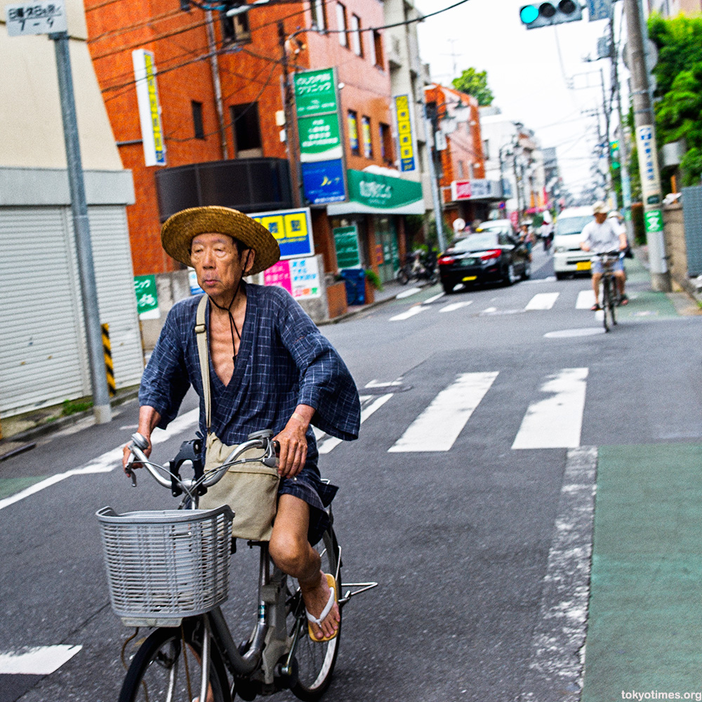 traditional Japanese cyclist