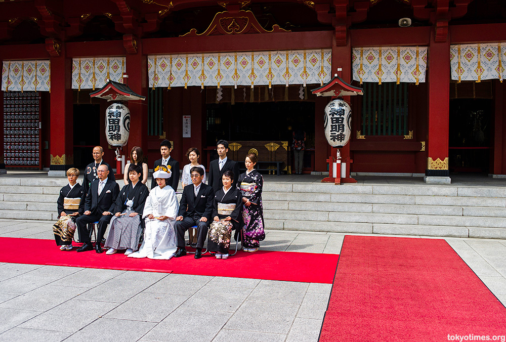 traditional Japanese wedding photo