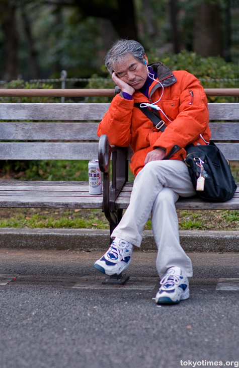 old Japanese man in Ueno park