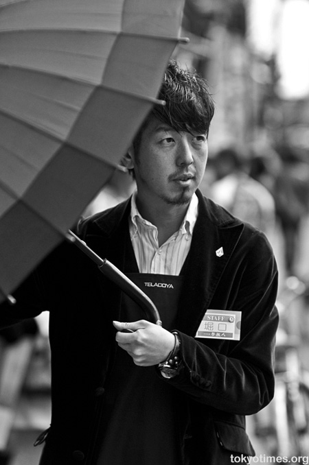 Japanese umbrella salesman