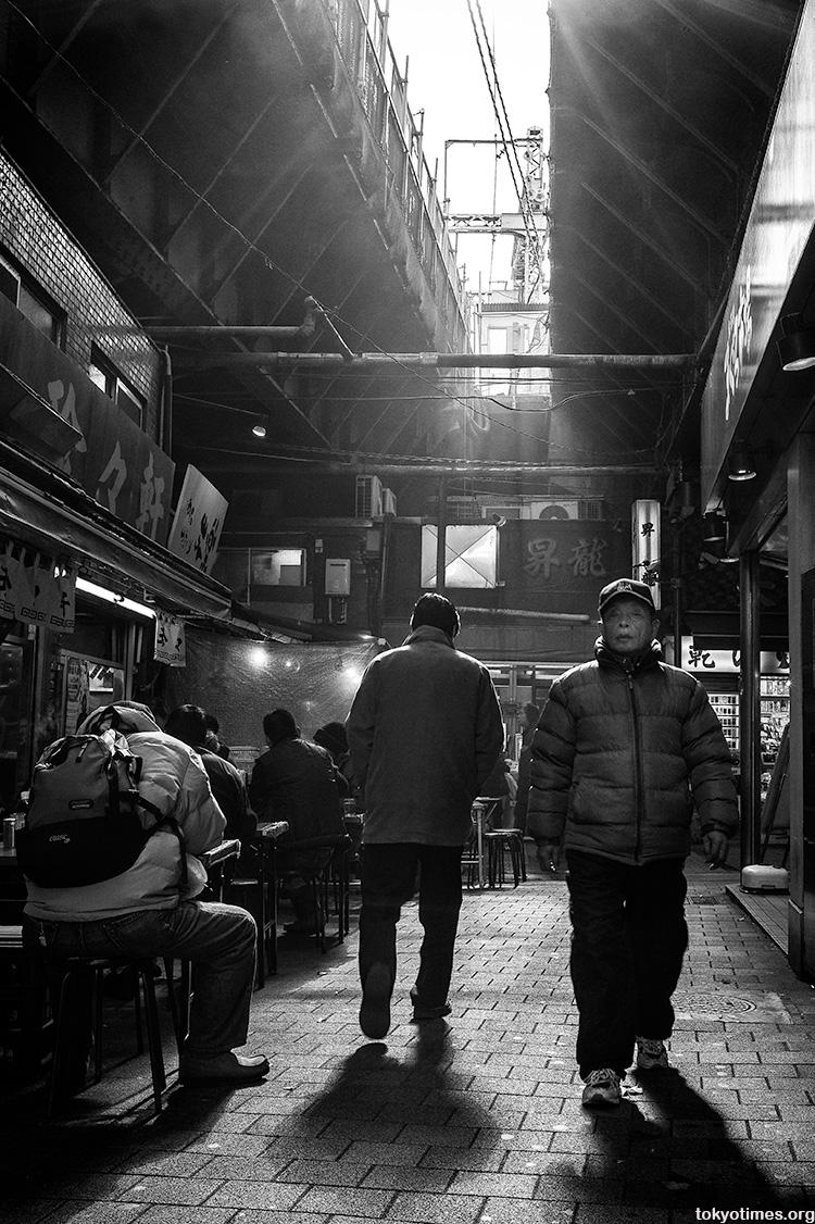 under the tracks in Ueno