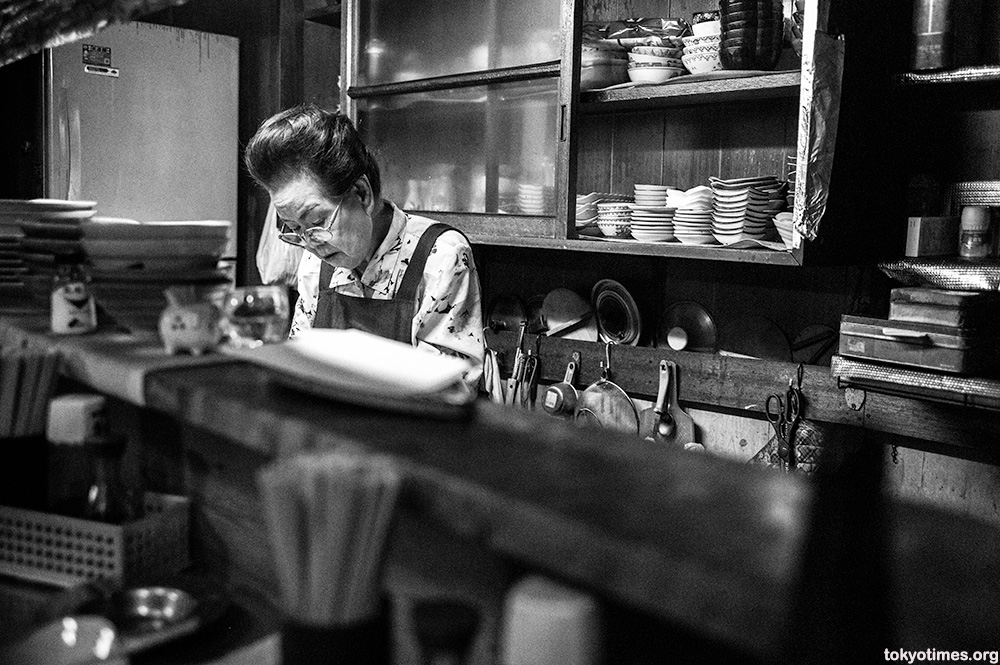 old Japanese bar and owner