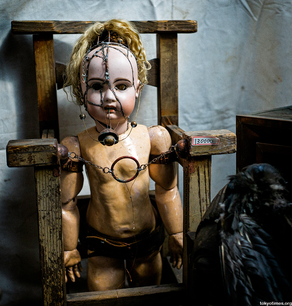 very disturbing and scary Japanese doll