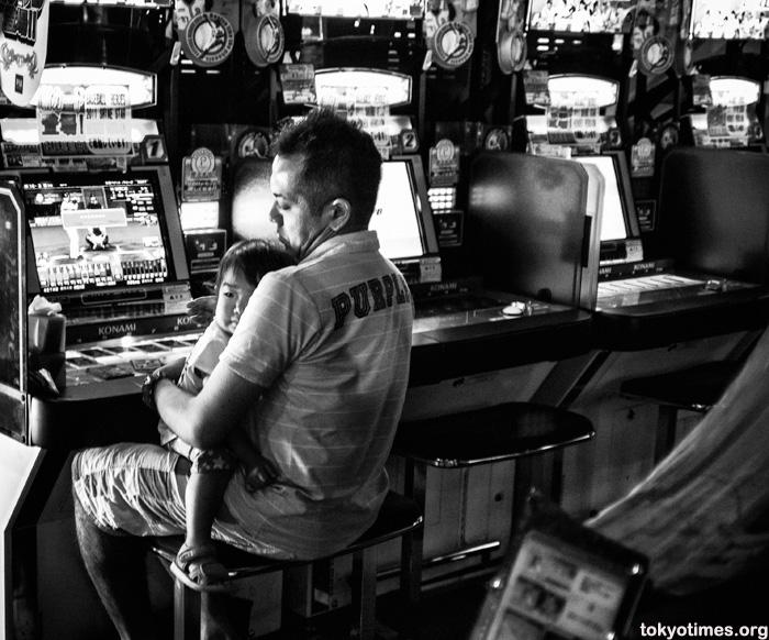 Japanese arcade game loving dad