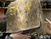 wild boar skin bag