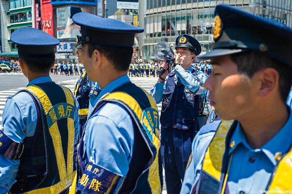 World Cup 2014 Japan fans Shibuya Crossing