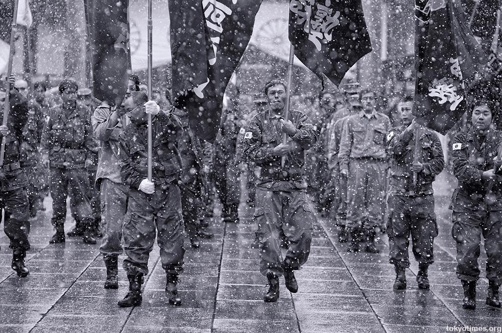 Japanese nationalists at Yasukuni Shrine