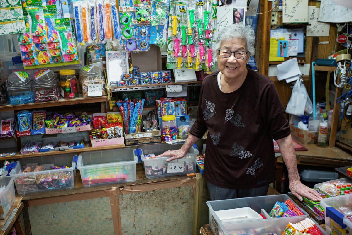 90 year old Japanese shopkeeper in Tokyo