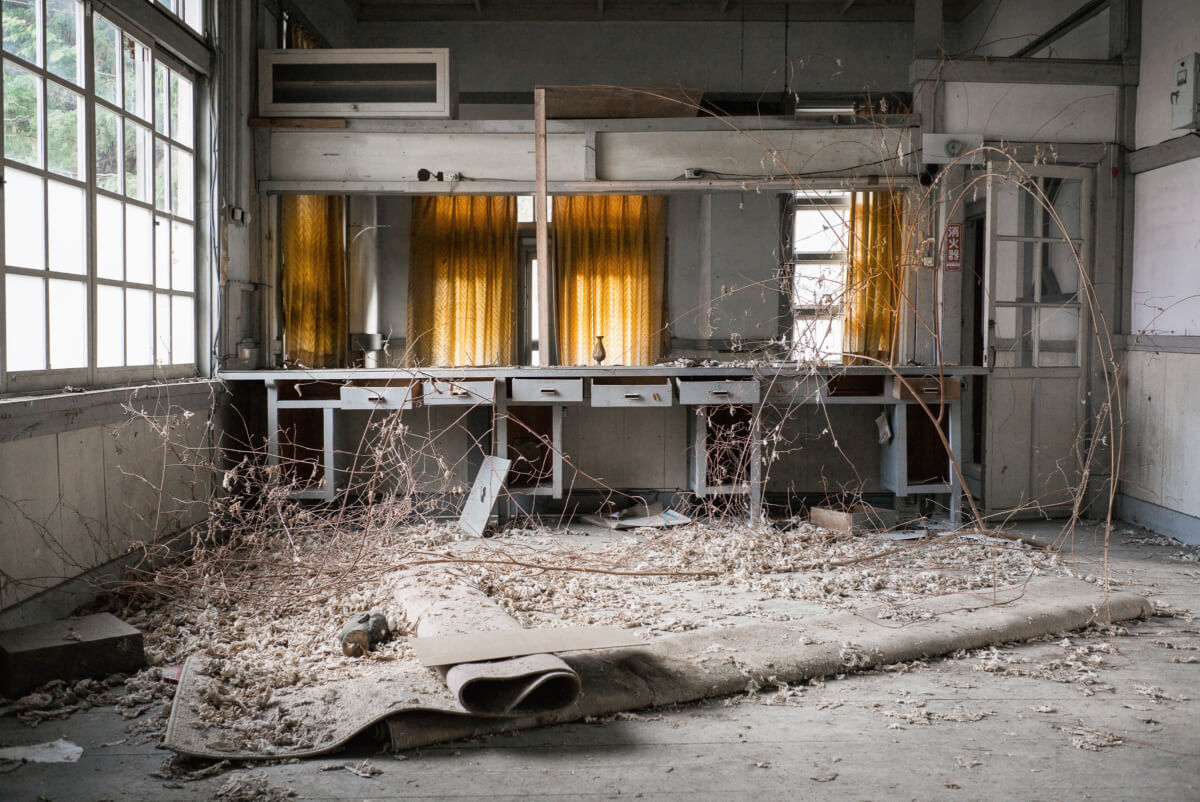 a beautiful abandoned Japanese post office
