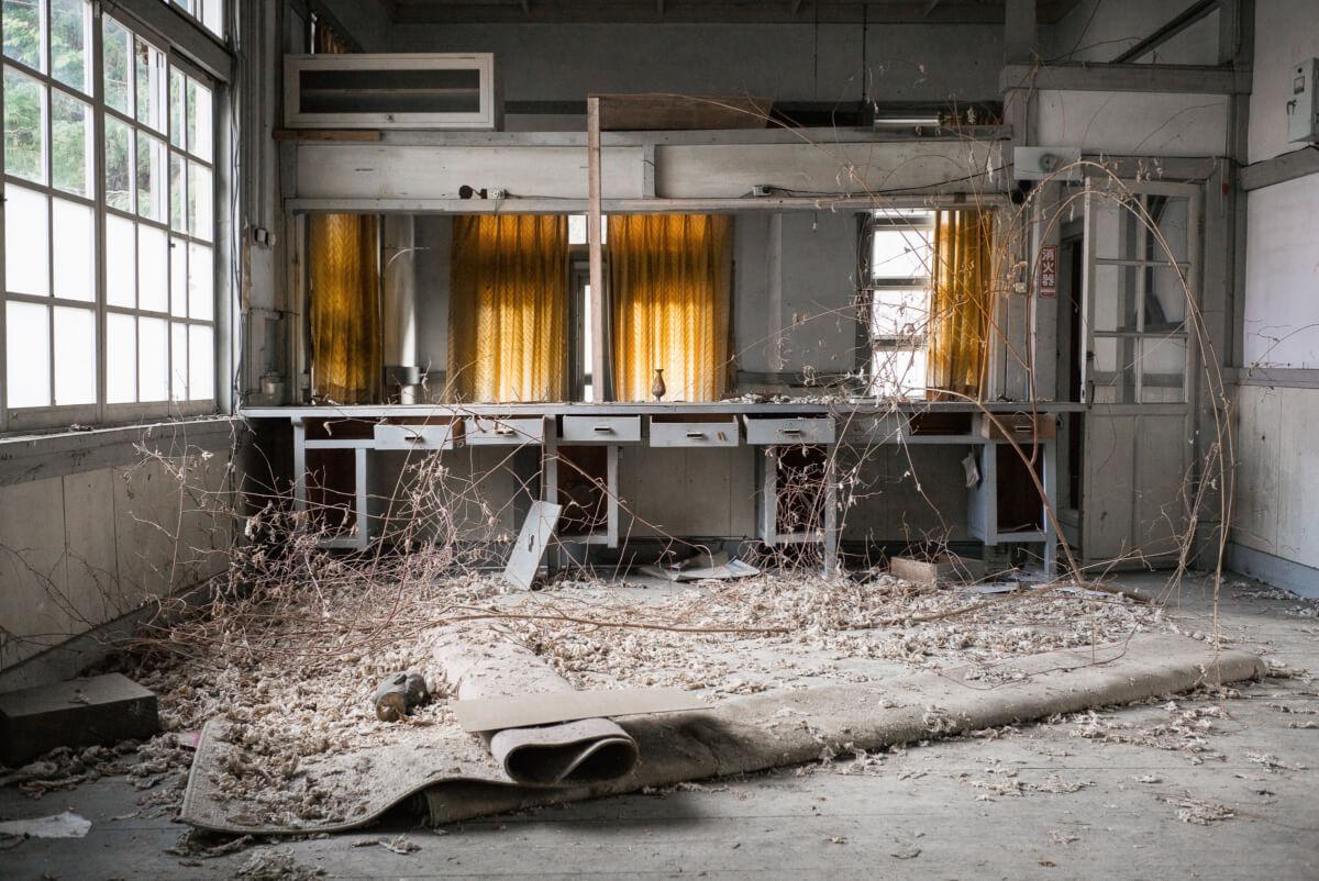 a beautiful abandoned Japanese post office