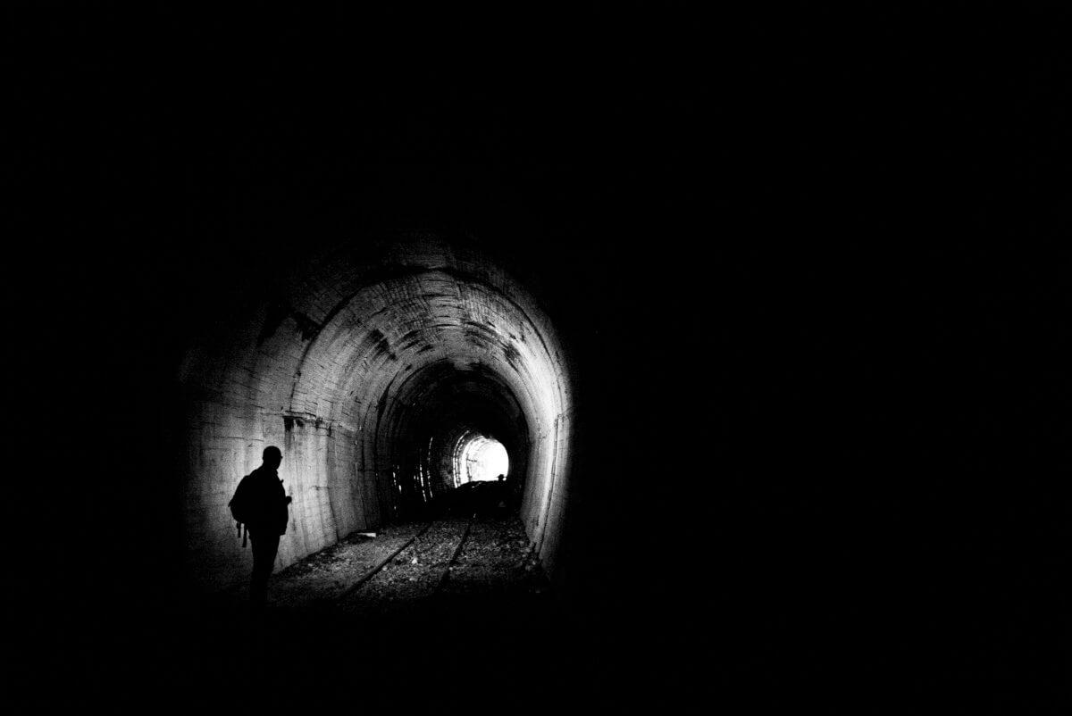 abandoned Tokyo train tunnel