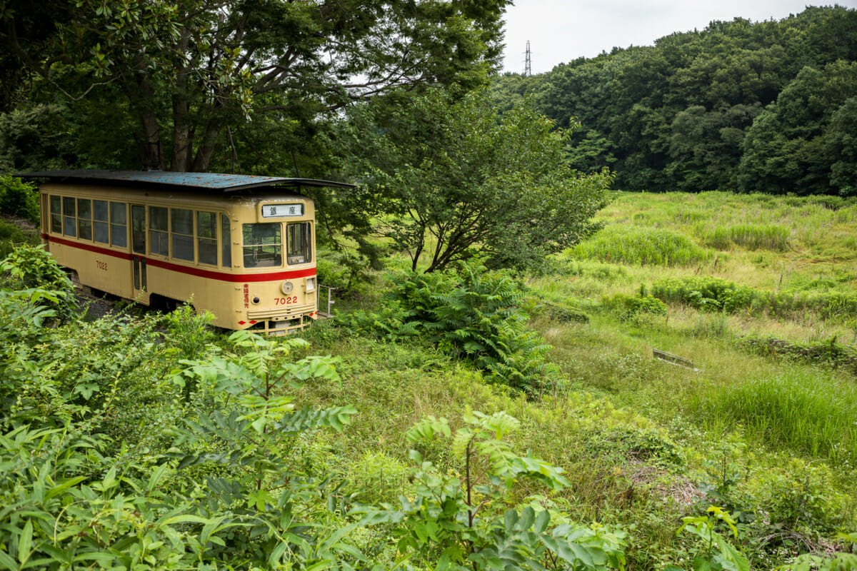 an old and disused tokyo tram
