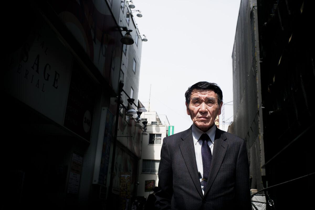 a cool japanese salary man