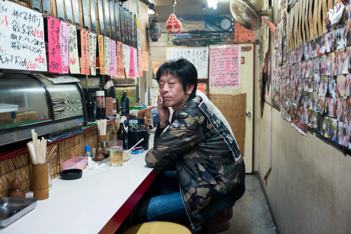 Dirty looks in a grubby little Tokyo bar