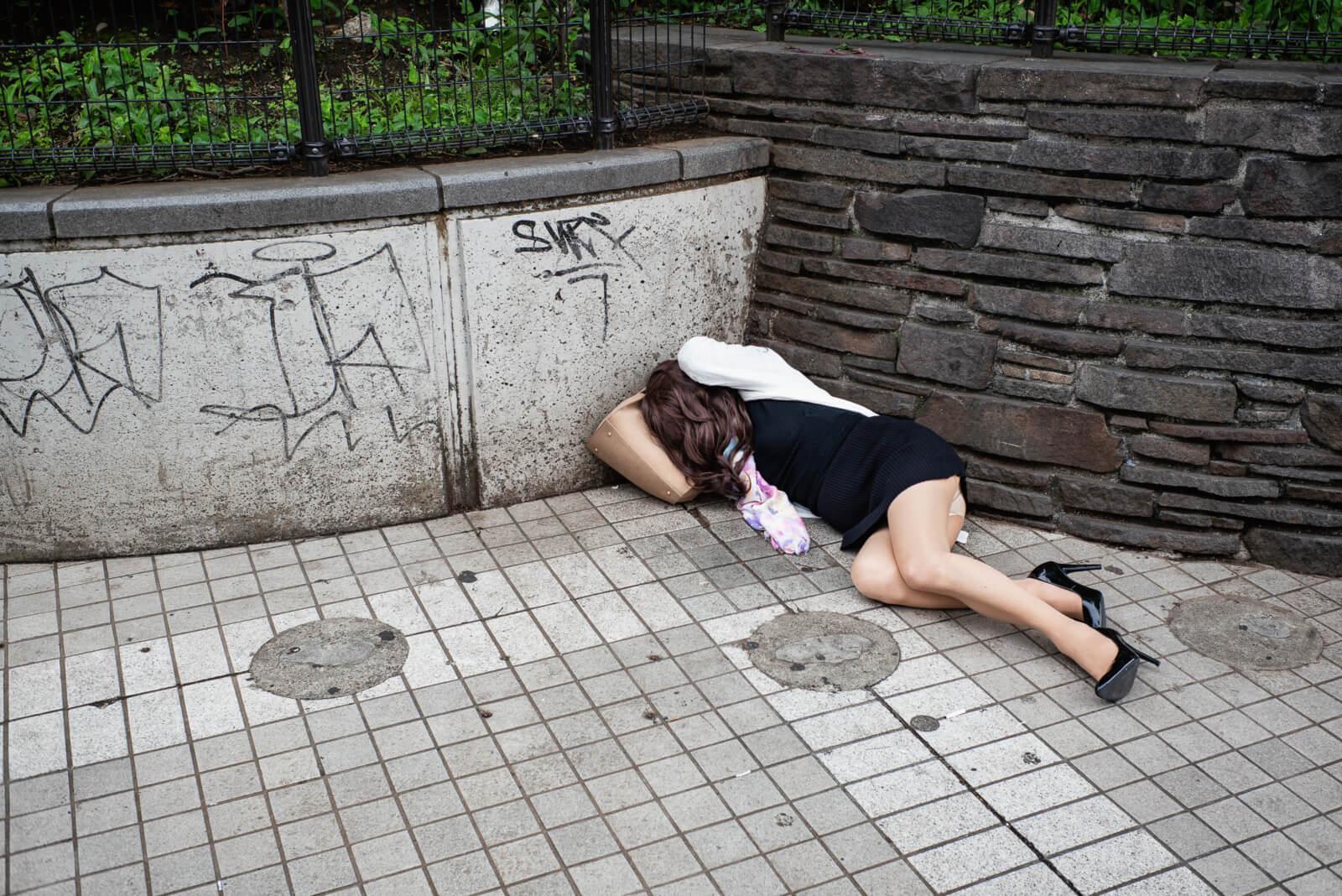 Drunk street girl japan — 6