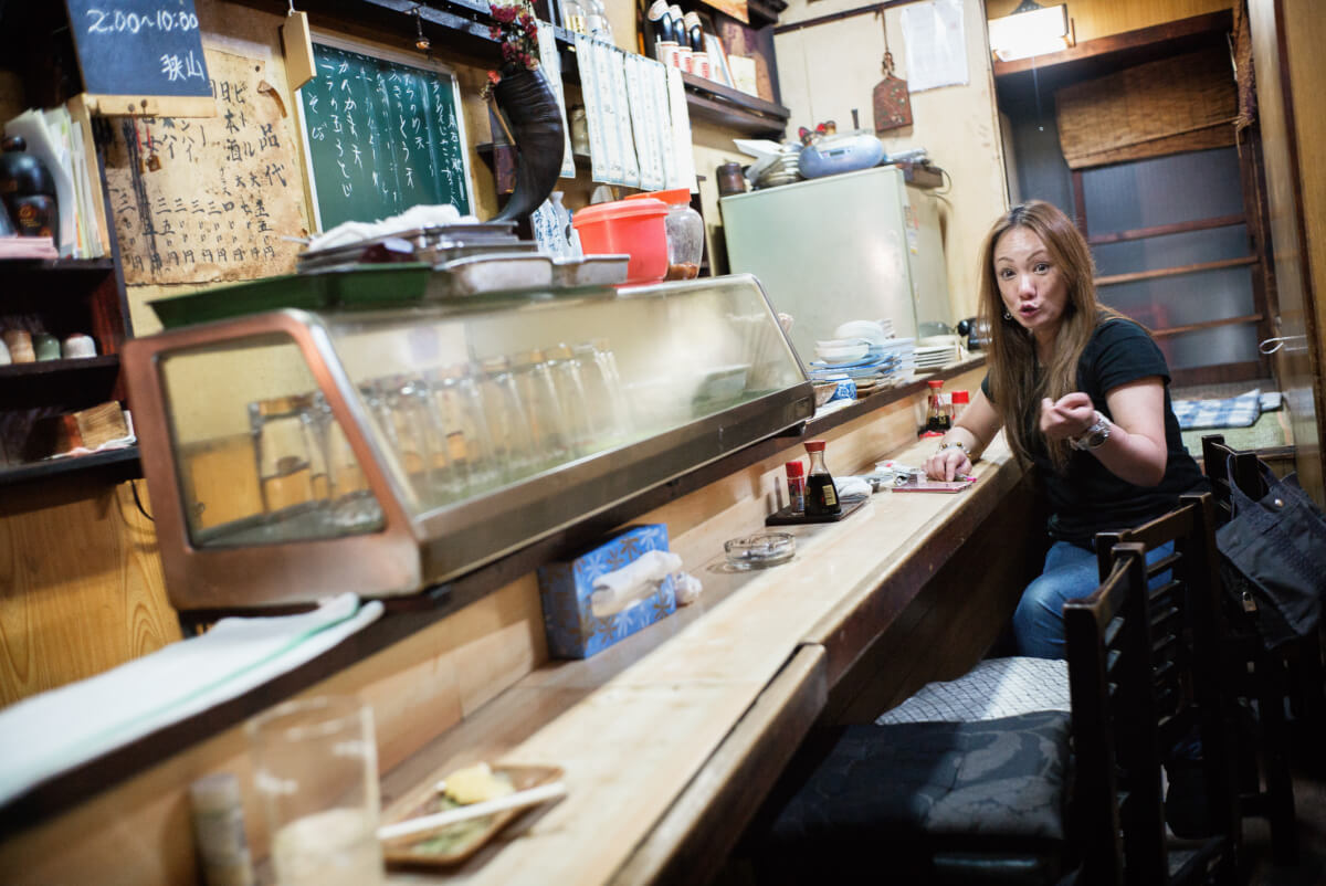 friendly and old little Japanese bar in tokyo