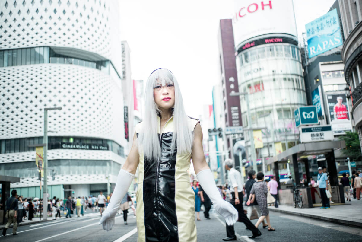 Ginza cosplayer