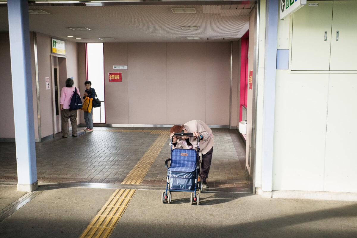 the daily struggle of an old Japanese lady