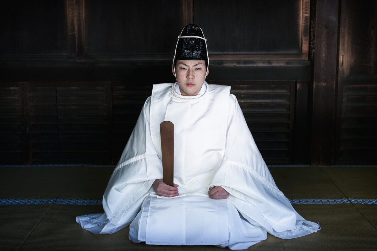 Japanese shinto priest portrait