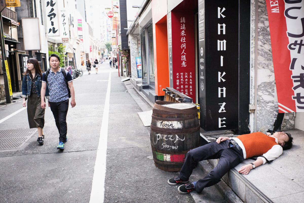 a Japanese kamikaze drunk
