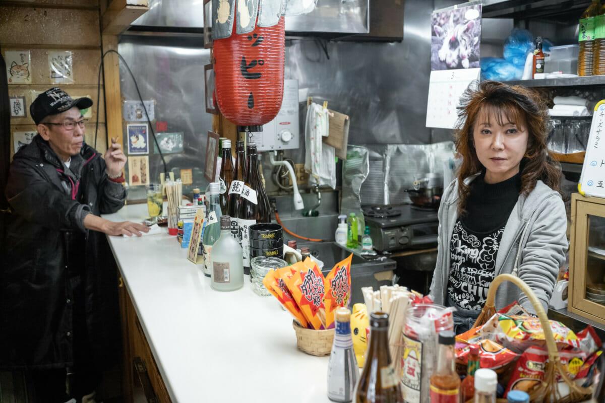 a small Tokyo standing bar