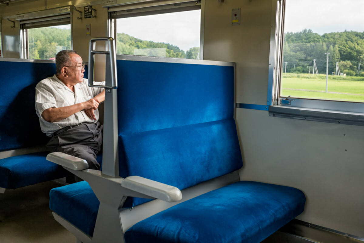 local train travel in rural Japan