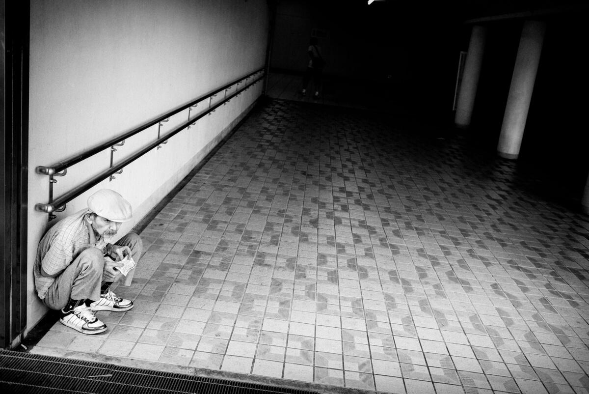 a lone japanese gambler