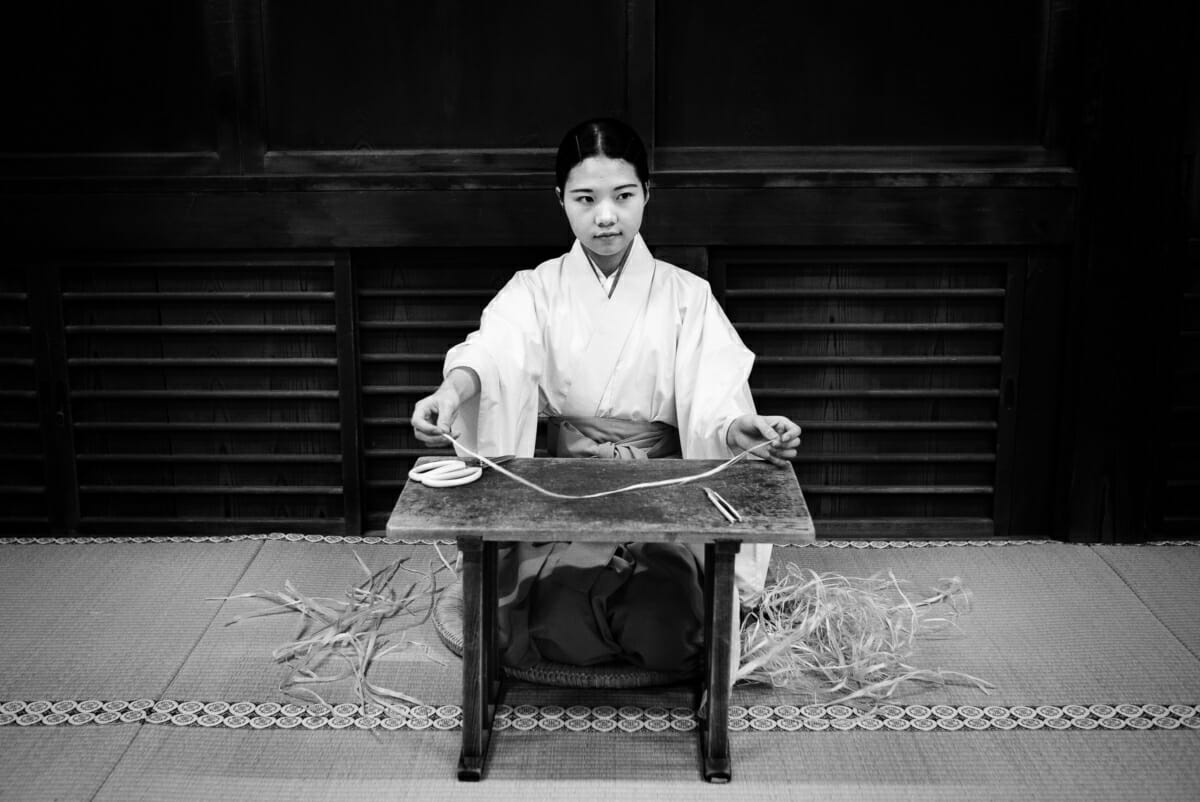 portrait of a Japanese shrine maiden or miko