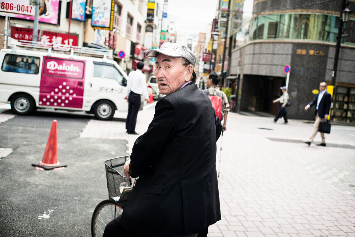 Japanese silver hat and a mini moustache