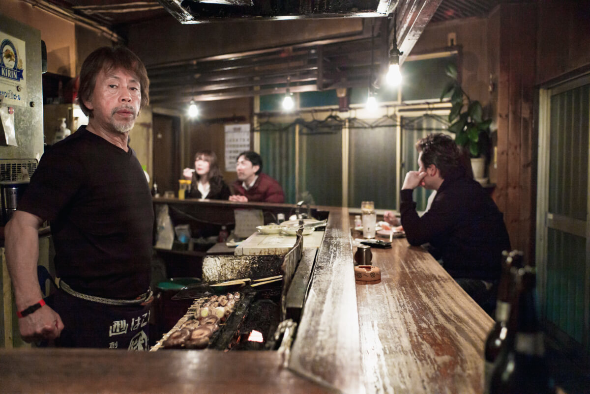 an old and traditional little Japanese bar
