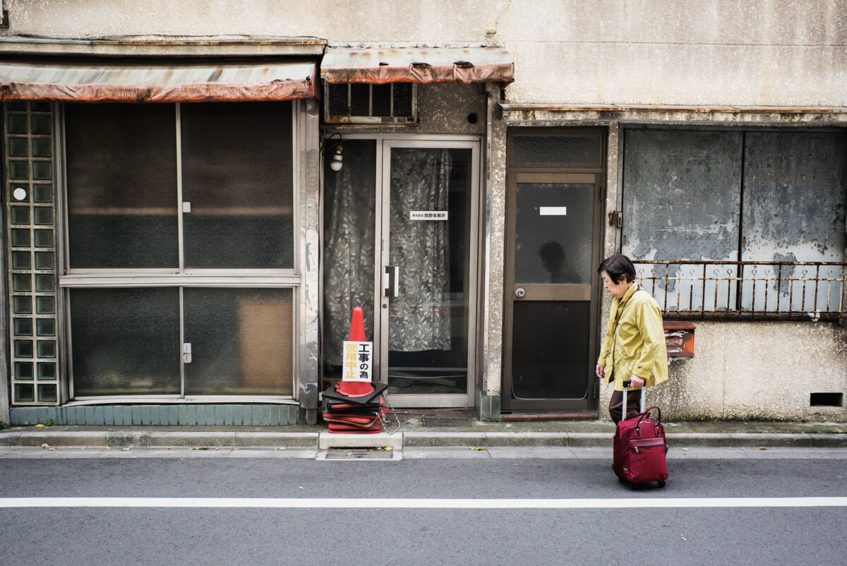 Old crumbling and abandoned Tokyo