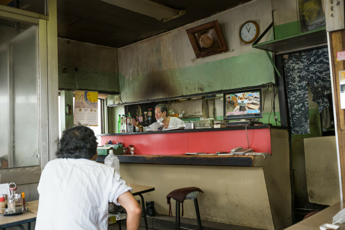 old crumbling and crooked Tokyo restaurant