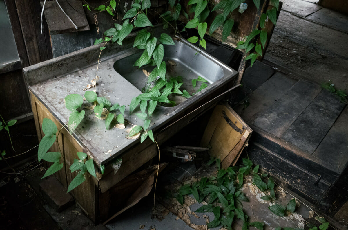 A sad and quietly decaying old Tokyo house