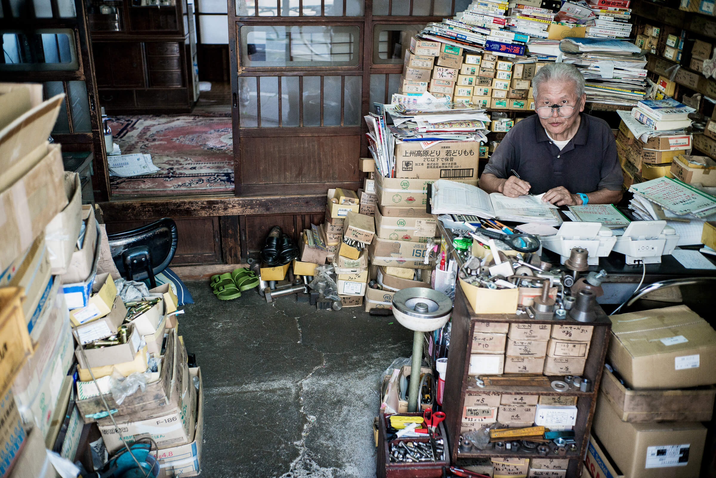 an old cluttered and character filled tokyo office tokyo times