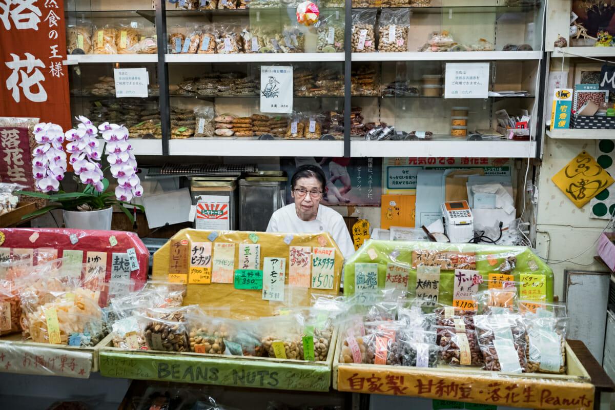 post war old Tokyo snack shop