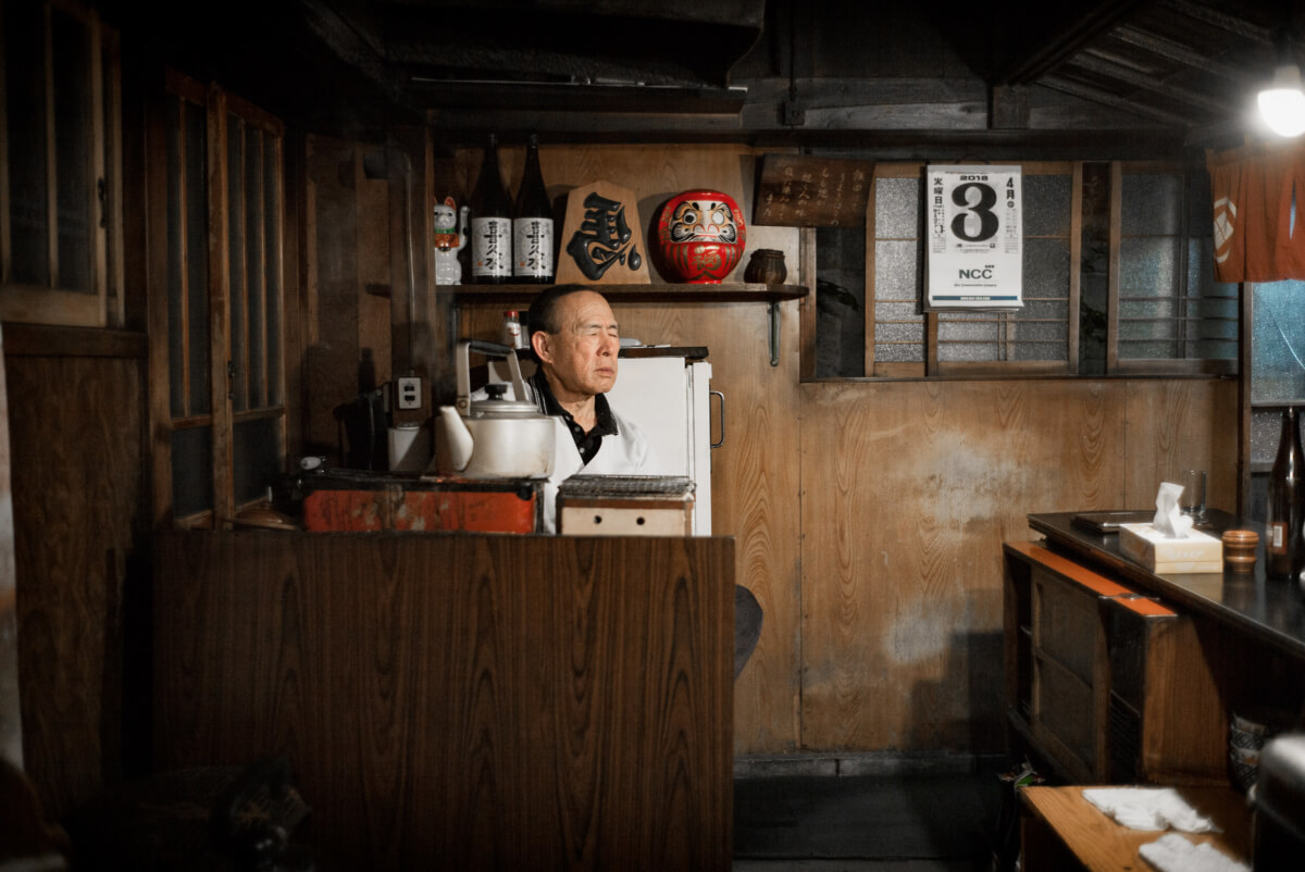 an old simple and very traditional Japanese bar