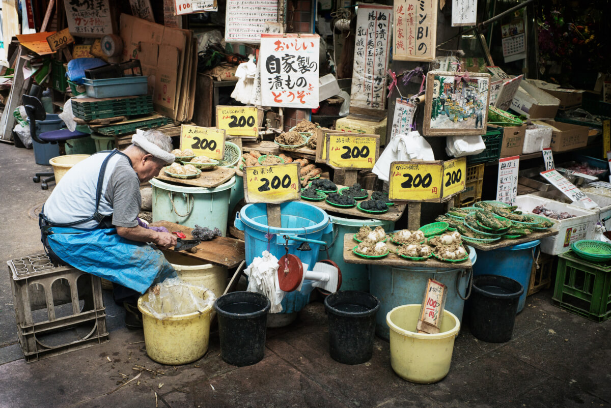 old and traditional Japanese pickle shop