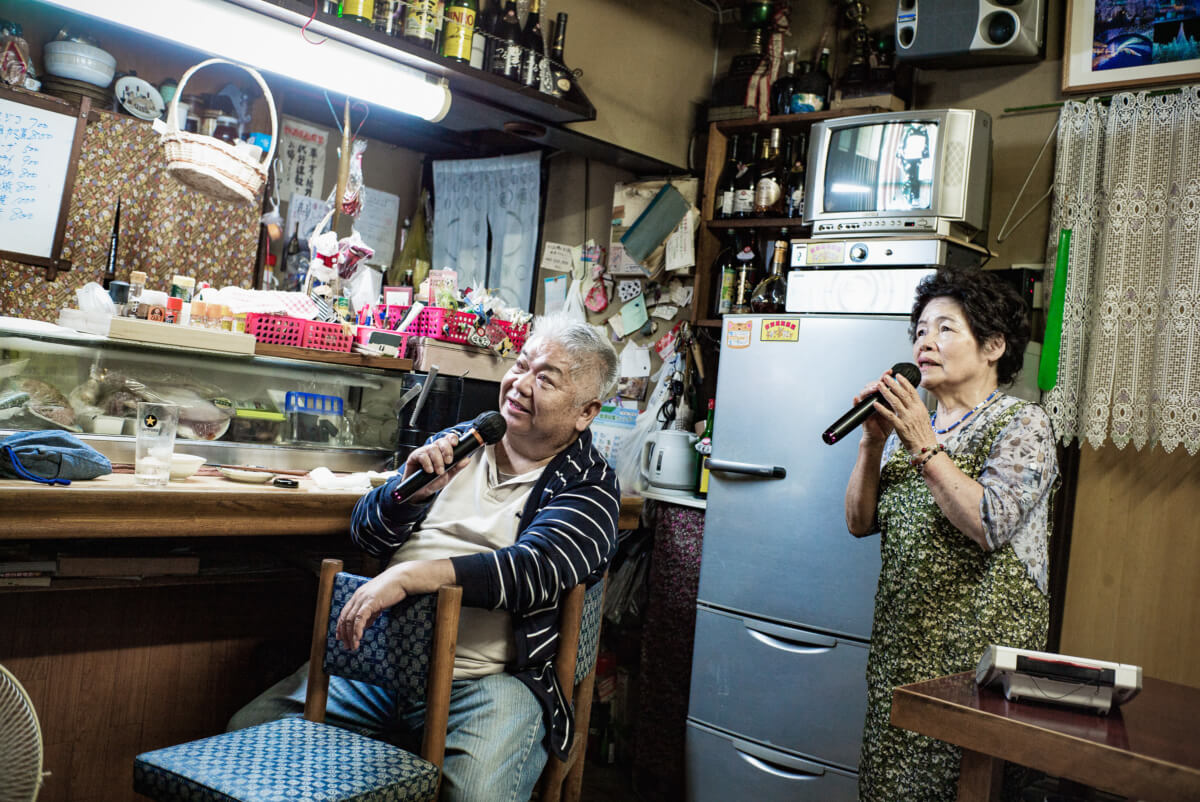 old style Tokyo bar with karaoke