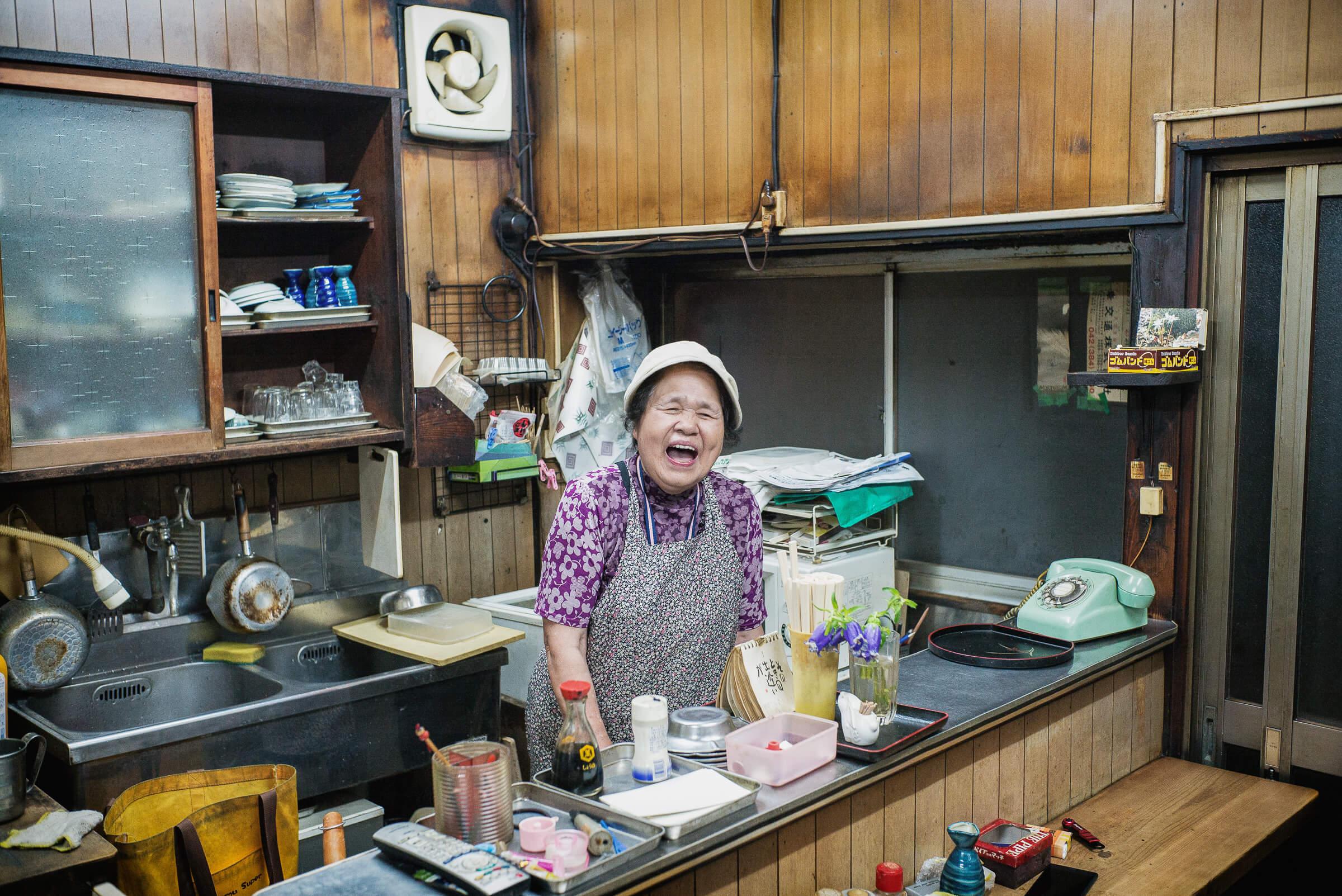 an old Japanese bar and its old owner