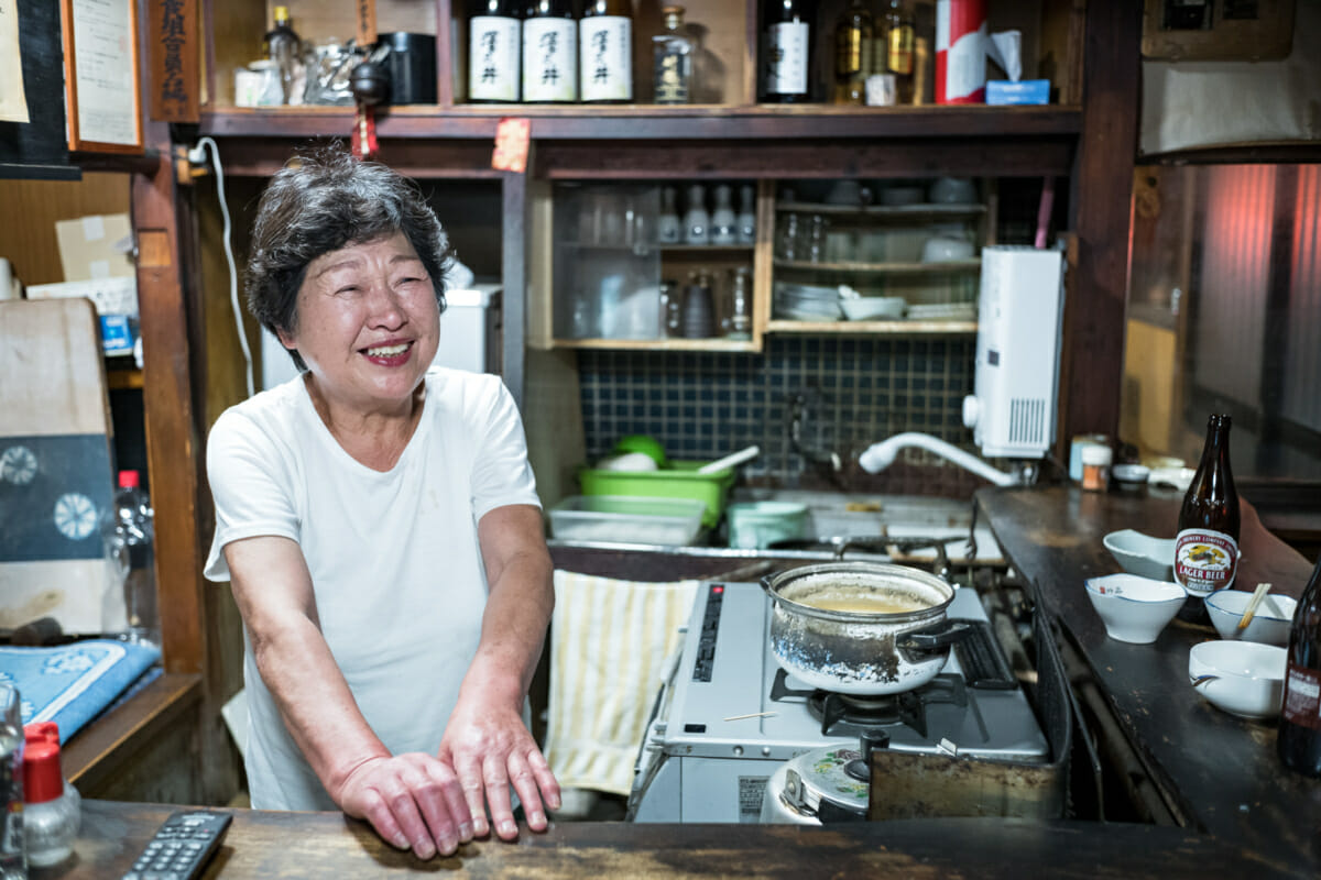 Portrait of an old Tokyo bar owner