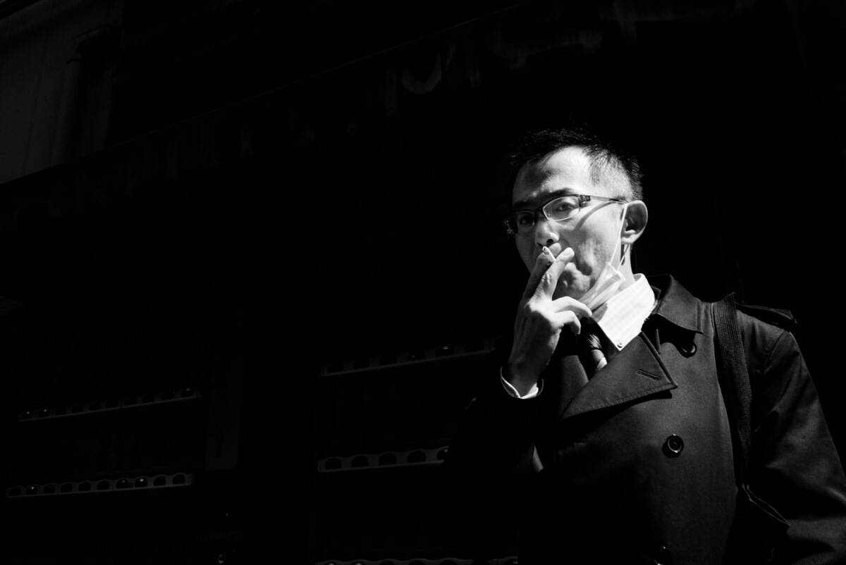 tokyo smoker in the shadows