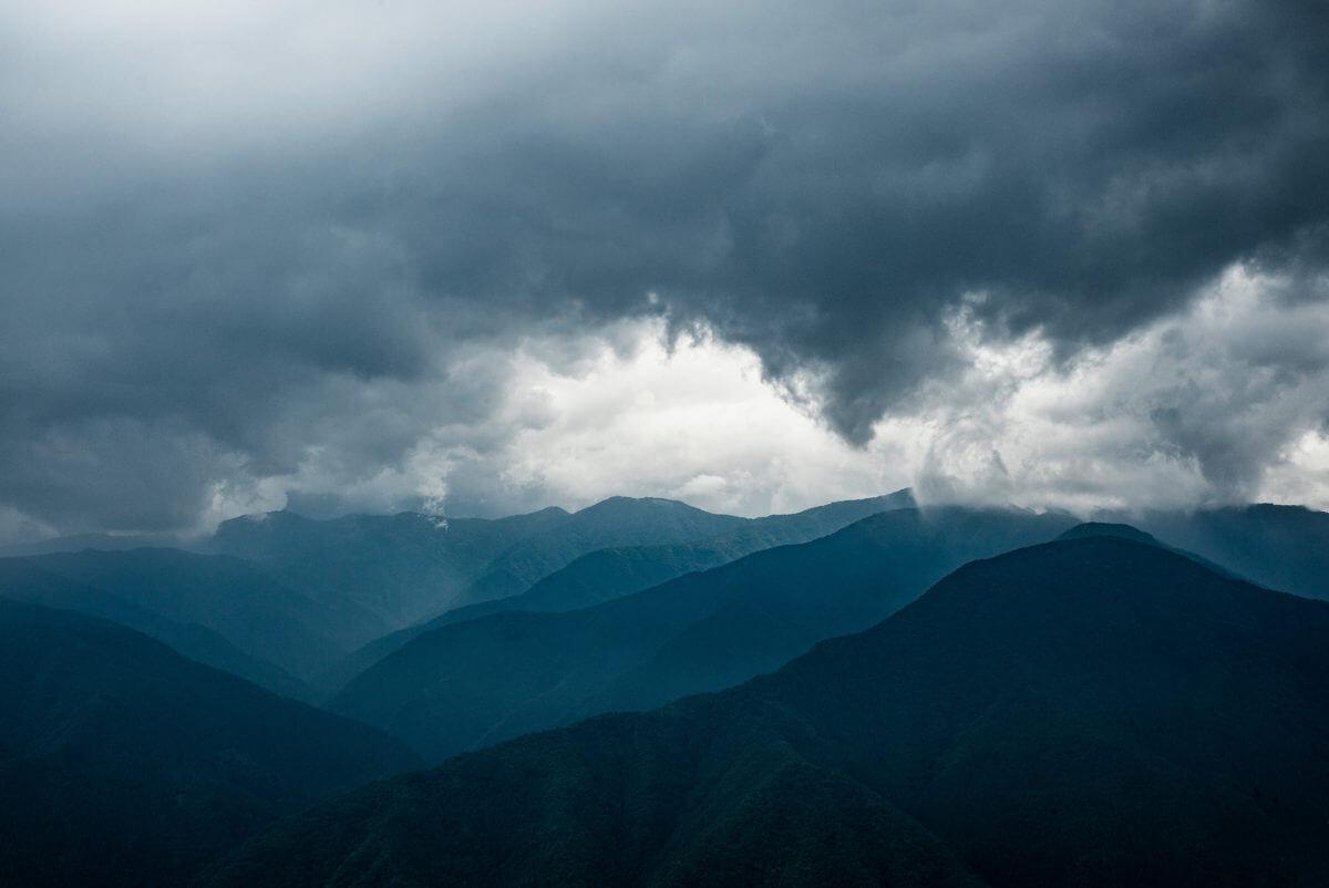stormy tokyo mountains