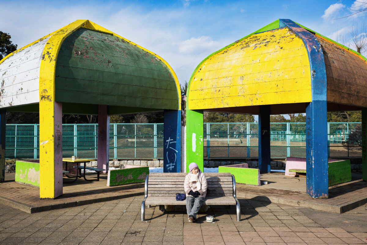 bleak suburban tokyo park life