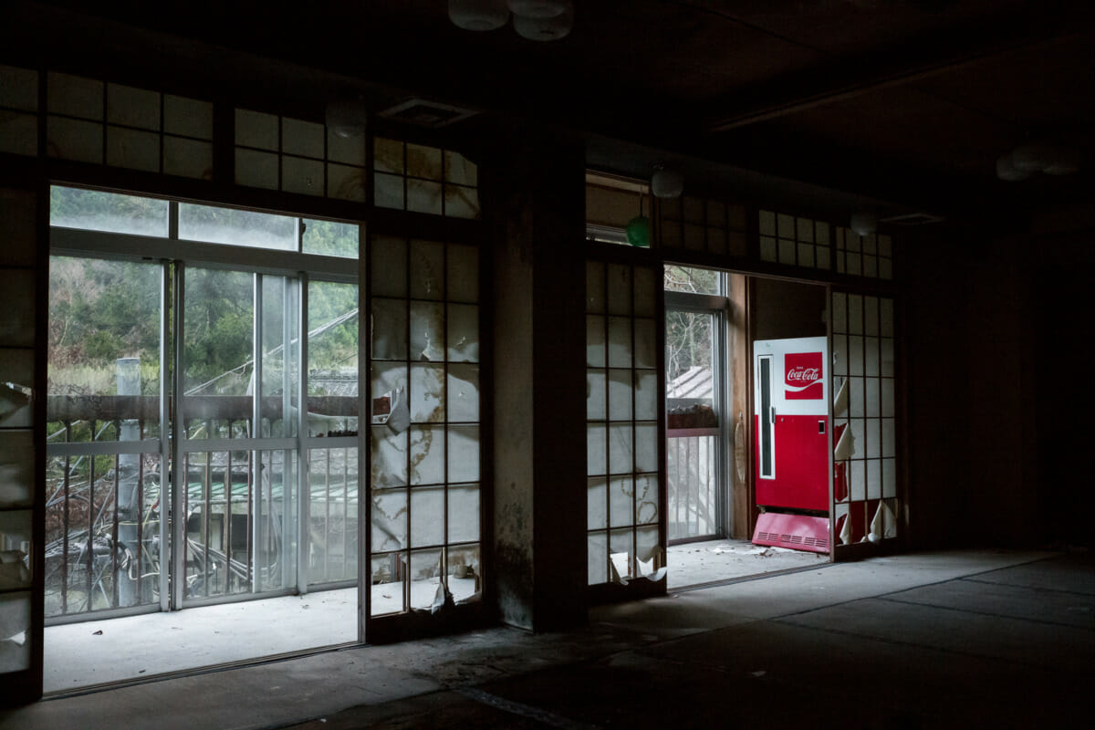 The shadows and silence of an abandoned Japanese hotel