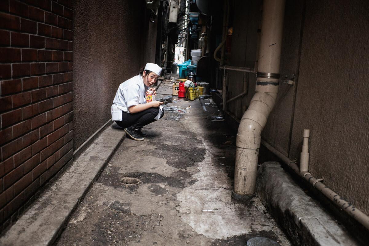 Tokyo alleyway eyes