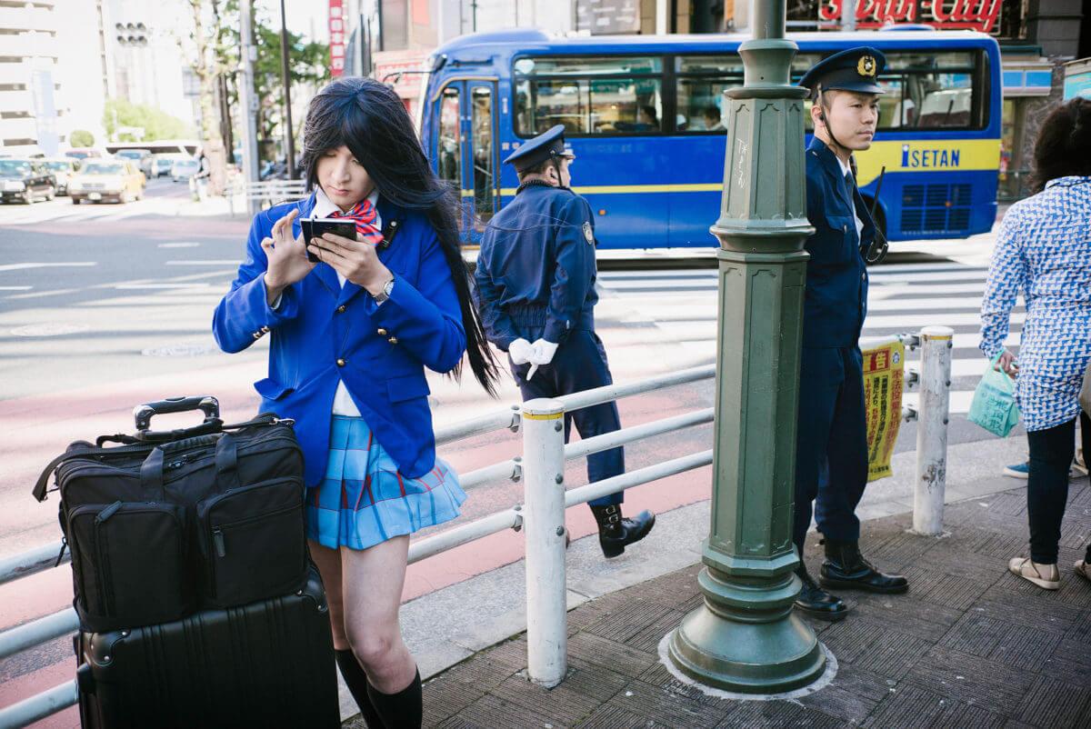 Tokyo boys in blue
