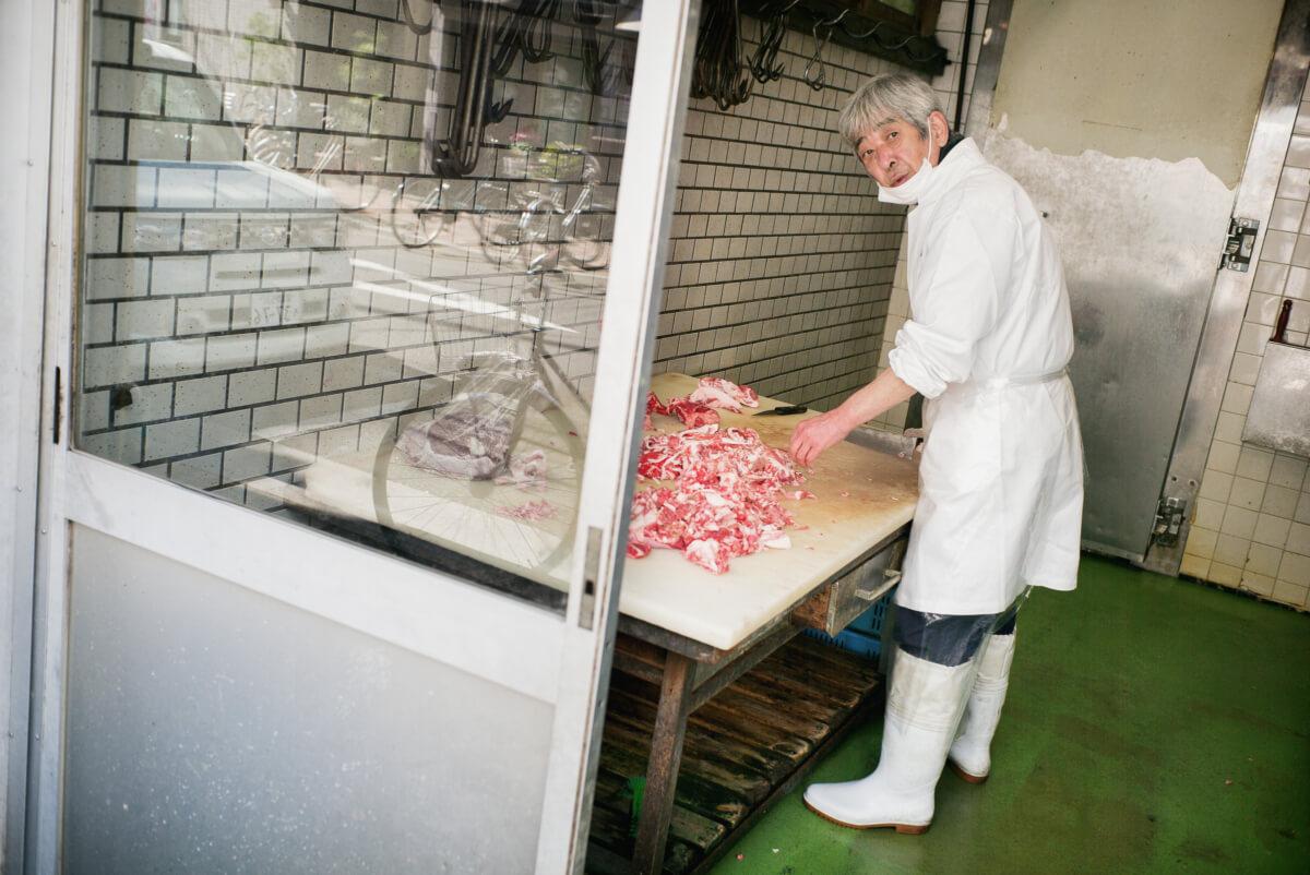 japanese butcher in tokyo