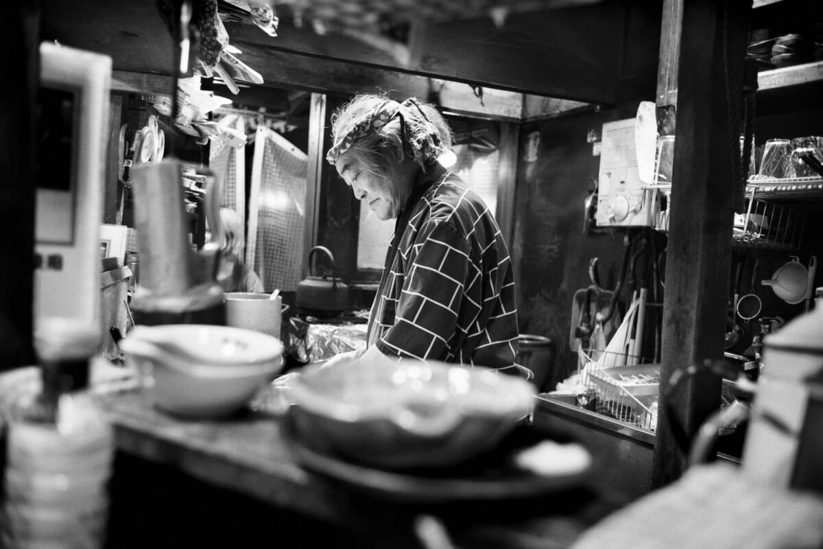 The clutter and calm of a little Tokyo bar
